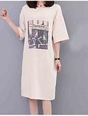 ieftine Tricou-tricou pentru femei - gât rotund scrisoare / portret