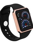 baratos Relógios de Pulseira-Homens / Mulheres Relogio digital Chinês Impermeável / LCD / Desenhos 3D Silicone Banda Legal / Elegante Preta / Branco / Azul