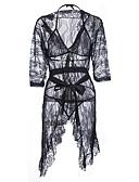 billige Nattøy til damer-Dame Sexy Uniformer og kinesiske kjoler Nattøy - Ensfarget, Trykt mønster / V-hals