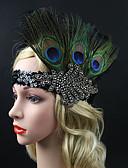preiswerte Krawatten & Fliegen-Great Gatsby Retro 20er Kostüm Damen Flapper Haarband Kopfbedeckung Schwarz Vintage Cosplay Kristall / Strass Feder Ärmellos