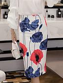 billige Kjoler med tryk-kvinders midjepenneskjorter - blomster