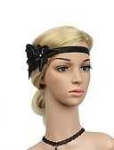 cheap Historical & Vintage Costumes-The Great Gatsby Charleston Vintage 1920s Roaring Twenties Costume Women's Flapper Headband Head Jewelry Black / Golden Vintage Cosplay Party Prom Sleeveless / Feather