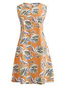 זול שמלות נשים-מידי / עד הברך דפוס, פרחוני - שמלה נדן רזה וינטאג' בגדי ריקוד נשים / קיץ