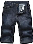 ieftine Pantaloni Bărbați si Pantaloni Scurți-Bărbați Mărime Plus Size Bumbac Blugi / Pantaloni Scurți Pantaloni Mată / Va rugăm selectați cu o mărime mai mare decât purtați.