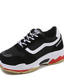 preiswerte Damen Nachtwäsche-Damen Schuhe Leinwand / PU Sommer Komfort Sportschuhe Walking Flacher Absatz Runde Zehe Weiß / Grau / Rot