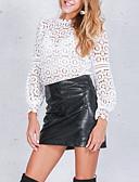 ieftine Cămașă-cămașă pentru femei - gât rotund cu litere și culori solide