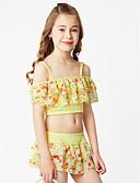 billige Badetøj til piger-Baby Pige Blomstret Andet Badetøj Blå