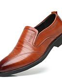 billige Dresser-Herre Formell Sko Lær Høst Oxfords Stripet Svart / Brun / Fest / aften / Novelty Shoes
