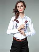 ieftine Bluze Damă-Pentru femei Cămașă Afacere / Activ - Floral Brodat