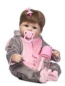 tanie Męskie swetry i swetry rozpinane-NPKCOLLECTION Lalki Reborn Dziecięce 18 in Silikonowy - jak żywy, Sztuczne Implantacja Niebieskie Oczy Dzieciak Dla dziewczynek Prezent