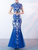 abordables Camisas para Mujer-Mujer Corte Sirena Vestido - Estampado Maxi