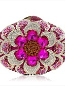 cheap Fashion Scarves-Women's Bags Alloy Evening Bag Flower Fuchsia