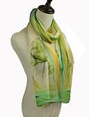 baratos Luvas Femininas-Mulheres Retângular - Com Transparência Floral / Estampa Colorida