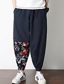 ieftine Pantaloni Bărbați si Pantaloni Scurți-Bărbați Chinoiserie Pantaloni Chinos Pantaloni Floral