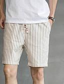 ieftine Pantaloni Bărbați si Pantaloni Scurți-Bărbați Bumbac Pantaloni Chinos / Pantaloni Scurți Pantaloni - Dungi Albastru piscină