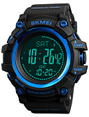 cheap Sport Watches-SKMEI Men's Sport Watch / Military Watch Japanese Alarm / Chronograph / Water Resistant / Water Proof PU Band Casual / Fashion Black / Green / Compass / Stopwatch