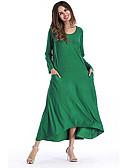 tanie Sukienki-Damskie Moda miejska Spodnie - Solidne kolory Żółty / Maxi / Dekolt w kształcie litery U / Święto