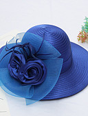 cheap Fashion Belts-Women's Active / Holiday Straw Hat - Solid Colored Ruffle