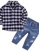 ieftine Accesorii de Baie-Copil Băieți De Bază Dungi Manșon Lung Poliester Set Îmbrăcăminte Negru 100