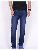 ieftine Pantaloni Bărbați si Pantaloni Scurți-Bărbați De Bază Mărime Plus Size Blugi Pantaloni - Mată Imprimeu Albastru piscină