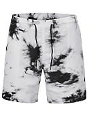 tanie Męskie koszulki polo-Męskie Aktywny / Moda miejska Luźna Typu Chino Spodnie - Nadruk, Kolorowy blok / Plaża