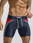 זול בגדי ים לגברים-מכנסי גלישה קולור בלוק חלקים תחתונים בסיסי בגדי ריקוד גברים