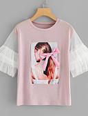 ieftine Tricou-Pentru femei Tricou Bumbac Mată
