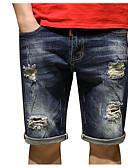 ieftine Pantaloni Bărbați si Pantaloni Scurți-Bărbați Bumbac Larg Blugi Pantaloni Mată