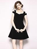 ieftine Dresses For Date-Pentru femei Vintage / Șic Stradă Linie A / Little Black Rochie Mată Mini