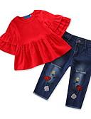 povoljno Kompletići za bebe-Dijete Djevojčice Jednobojni Rukava do lakta Komplet odjeće