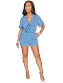 ieftine Bluză-Pentru femei Ieșire / Plajă Salopete Buline În V Picior Larg