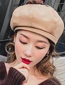 abordables Sombreros de mujer-Mujer Encaje / Lazo Boina Francesa Un Color