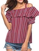 baratos Blusas Femininas-Mulheres Camiseta Básico Geométrica Com Alças