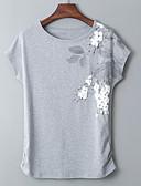 Χαμηλού Κόστους T-shirt-Γυναικεία Μεγάλα Μεγέθη T-shirt Βασικό - Βαμβάκι Μονόχρωμο / Γεωμετρικό Στάμπα / Καλοκαίρι