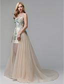 abordables Vestidos de Noche-Princesa Escote de ilusión Capilla Encaje / Tul Evento Formal Vestido con Apliques por TS Couture®