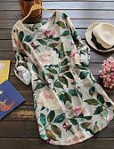 זול שמלות מודפסות-מעל הברך פרחוני - שמלה ישרה וינטאג' בגדי ריקוד נשים