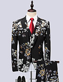 cheap Women's Dresses-Men's Party Business Formal Slim Suits-Floral Geometric Notch Lapel / Long Sleeve