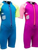 baratos Roupas de Mergulho & Camisas de Proteção-SBART Para Meninos / Para Meninas Macacão de Mergulho Curto 2mm SBR Neoprene Roupas de Mergulho Resistente a UV, Esticar Manga Curta Zíper Frontal