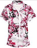 povoljno Muške košulje-Majica Muškarci Izlasci Cvjetni print