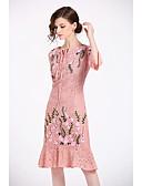 ieftine Rochii de Damă-Pentru femei Zvelt Pantaloni Talie Înaltă Roz Îmbujorat / Muncă