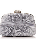 cheap Mother of the Bride Dresses-Women's Bags Polyester Evening Bag Crystals Floral Print Purple / Silver / Royal Blue
