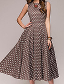 cheap Women's Belt-Women's Party / Going out Vintage Cotton A Line Dress - Polka Dot / Summer