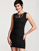 זול שמלות נשים-שחור מותניים גבוהים מעל הברך אחיד - שמלה צינור רזה סגנון רחוב בגדי ריקוד נשים