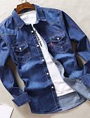 abordables Pantalones y Shorts de Hombre-Hombre Básico Camisa Un Color