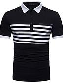 tanie Męskie koszulki polo-Polo Męskie Bawełna Kołnierzyk koszuli Prążki / Wybierz rozmiar o jeden większy od Twojego normalnego rozmiaru. / Krótki rękaw