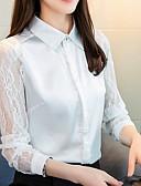 povoljno Ženski džemperi-Majica Žene Izlasci Jednobojni Kragna košulje