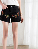 cheap Women's Dresses-Women's Basic Wide Leg / Shorts Pants - Solid Colored Embroidered