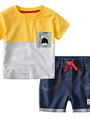 お買い得  新着 メンズシャツ-赤ちゃん 男の子 活発的 日常 プリント 半袖 ショート コットン / ポリエステル アンサンブル ルビーレッド / 幼児