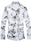 cheap Men's Exotic Underwear-men's shirt - floral animal shirt collar
