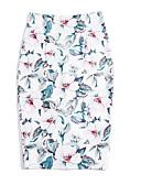 abordables Faldas para Mujer-Mujer Básico Corte Bodycon Faldas Geométrico